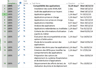 gestion Microsoft project 2013 taches ressources gantt planification dates reporting travail duree equipe suivi charges couts 47