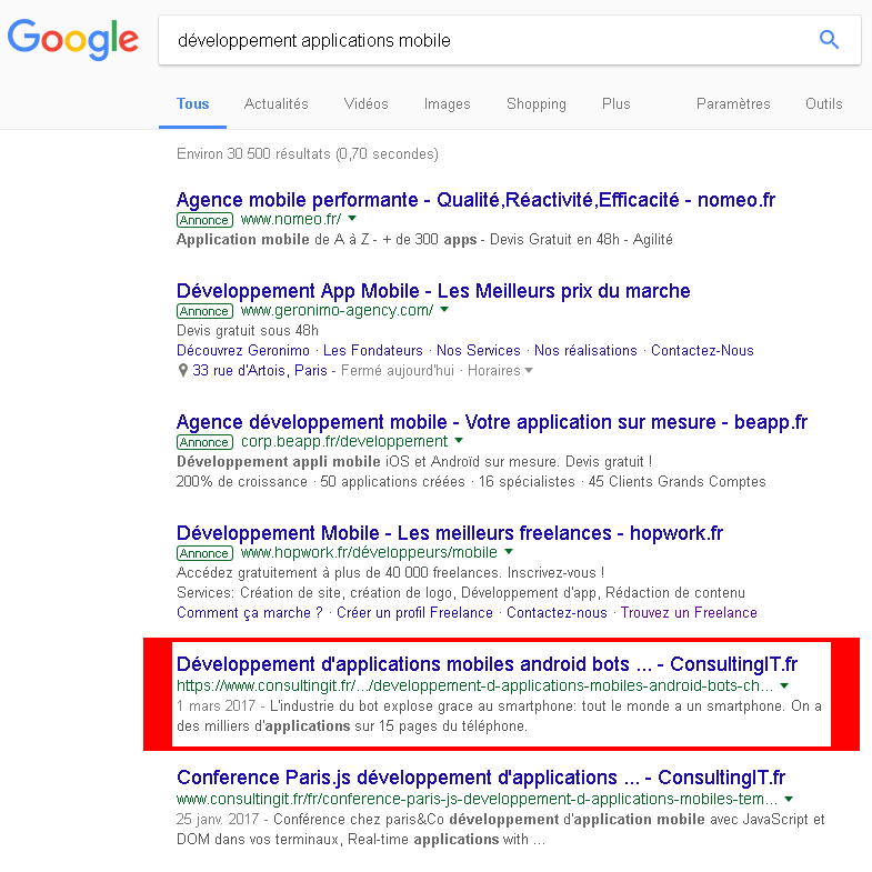 expert seo france paris referencement naturel organique google premiere page