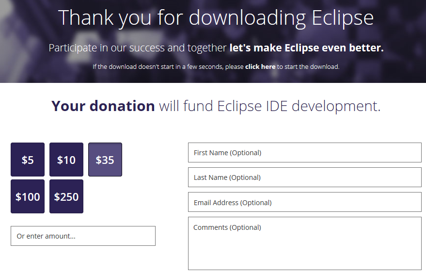 12thank you for downloading Eclipse