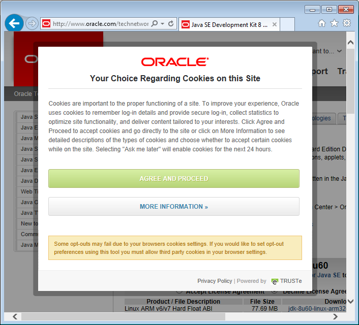 1acces site web oracle