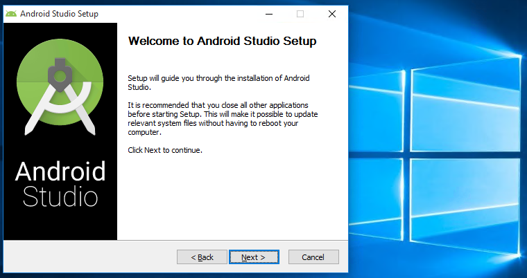 android stuio setup windows 10