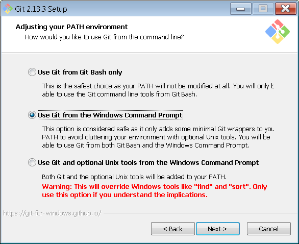 git windows command prompt