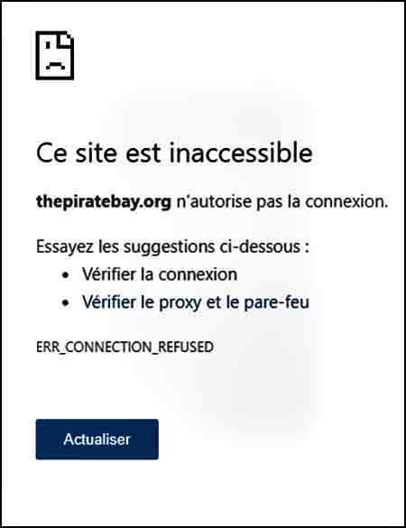 Thepiratebay.org inaccessible