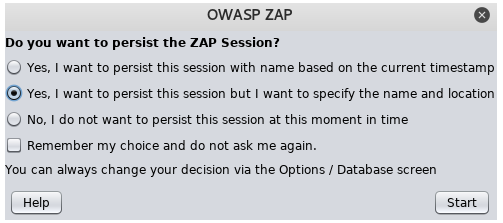 zap owasp scan vulerabilites red team lghm persistence session