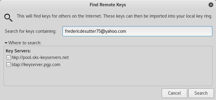 pgp find remote key