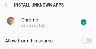 chrome allow from this source