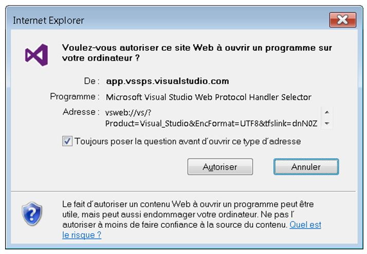 visual studio invitation collaborateurs lien