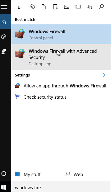 windows10 pare feu firewall 0