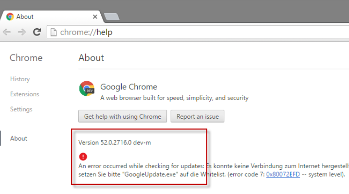 windows10 pare feu firewall google chrome mise a jour bloquee