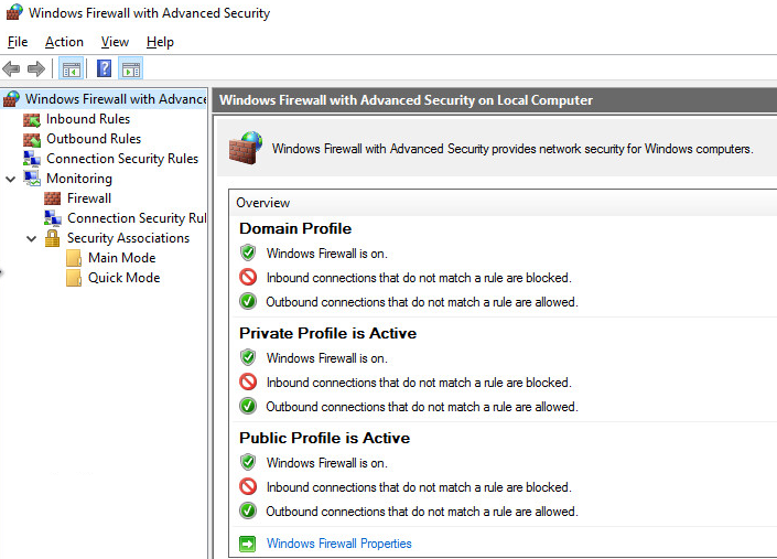 windows10 pare feu firewall