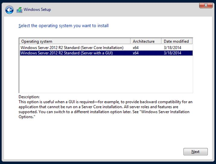upgrade windows10 windows server 2012R2 standard1